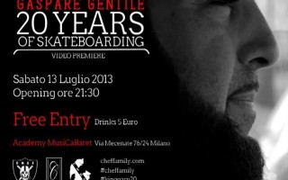 "Trailer: Gaspare Gentile ""20 Years of Skateboarding"""